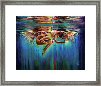 Aquarian Rebirth II Divine Feminine Consciousness Awakening Framed Print