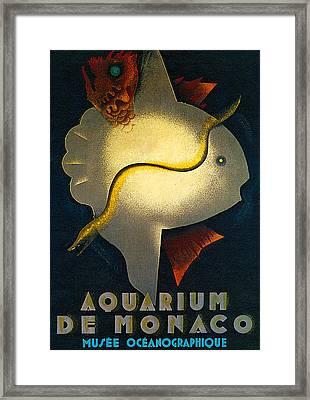 Aquarium De Monaco Framed Print