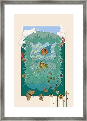 Aquarium Framed Print by Edward Kinney