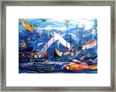 Aquarium Framed Print by G Jay Jacobs