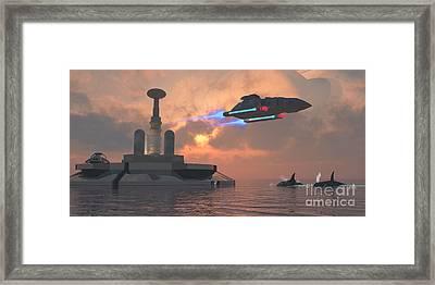 Aquarius Major Framed Print by Corey Ford