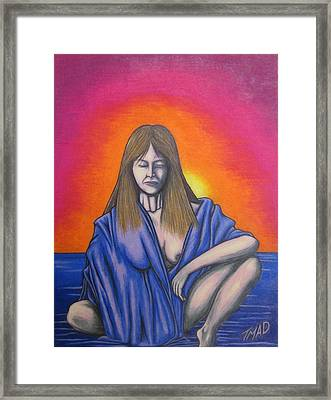 Framed Print featuring the drawing Aquarius by Michael  TMAD Finney