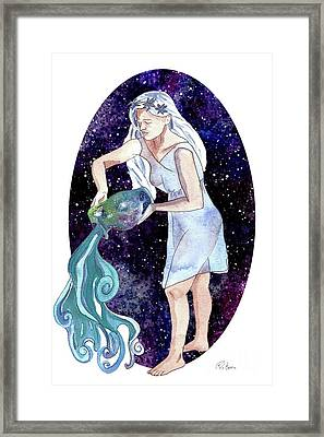 Aquarius Water Bearer Framed Print by D Renee Wilson
