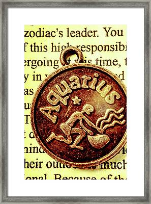 Aquarius Zodiac Sign Framed Print by Jorgo Photography - Wall Art Gallery