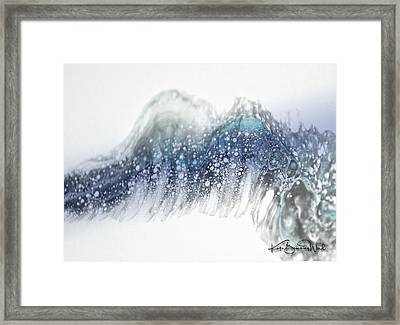 Framed Print featuring the painting Aquatic 2 by Kate Word