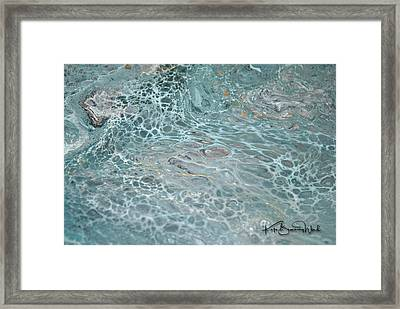 Framed Print featuring the painting Aquatic 3 by Kate Word