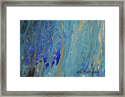 Framed Print featuring the painting Aquatic 4 by Kate Word