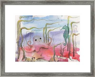 Aquatic Bliss Framed Print
