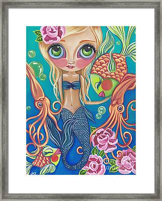Aquatic Mermaid Framed Print by Jaz Higgins