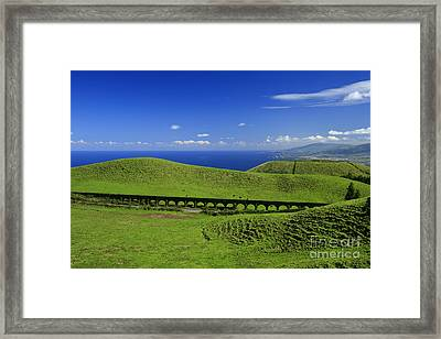 Aqueduct And Pastures Framed Print by Gaspar Avila