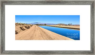 Aqueduct And The Tehachapi Mountains Framed Print
