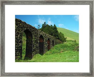 Aqueduct Framed Print by Gaspar Avila