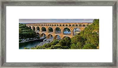 Aqueduct Pont Du Gard Framed Print