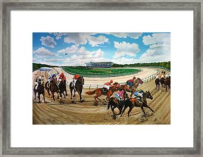 Aqueduct Racetrack Framed Print