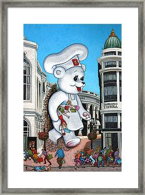 Aqui Hay Bimbo Framed Print by Holly Wood