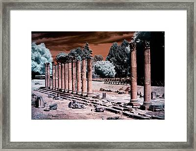 Framed Print featuring the photograph Aquileia, Roman Forum by Helga Novelli