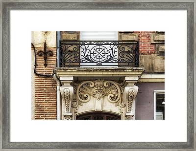 Aquitaine Balcony And Architecture Framed Print