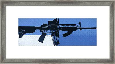 Ar 15 Pop Art Metal Panels Framed Print
