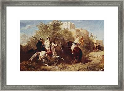 Arab Horsemen Framed Print by Eugene Fromentin