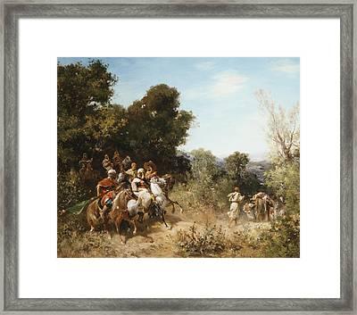 Arab Horsemen Framed Print