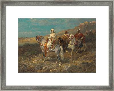 Arab On A White Horse Framed Print