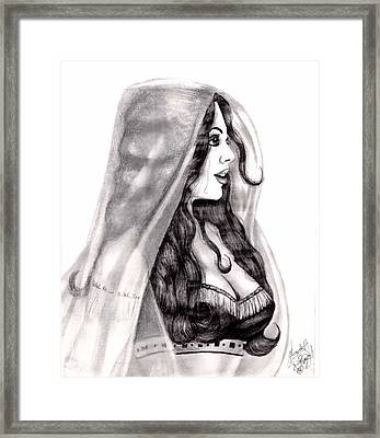 Arabian Beauty Framed Print by Scarlett Royal
