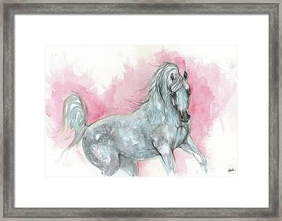 Arabian Horse 2017 08 04 Framed Print