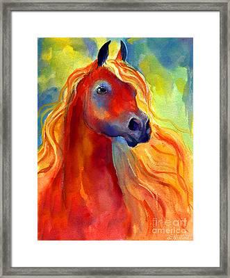 Arabian Horse 5 Painting Framed Print by Svetlana Novikova