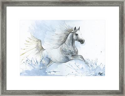 Arabian Horse In Blue 2017 08 03 Framed Print