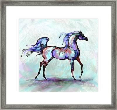 Arabian Horse Overlook Framed Print