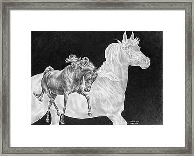 Arabian Horse Spirit Print Framed Print