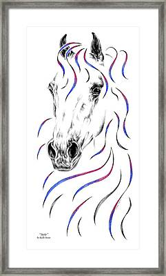 Arabian Horse Style Framed Print