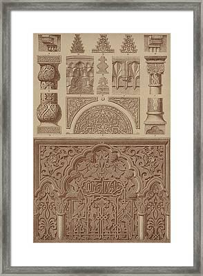 Arabian Moresque Architectonic Ornaments Framed Print