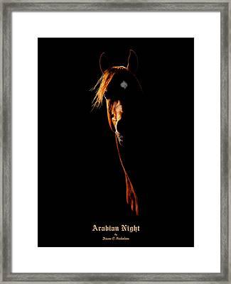 Arabian Night Framed Print by Diane C Nicholson