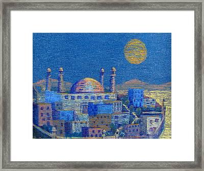 Arabian Nights Framed Print by Art Nomad Sandra  Hansen