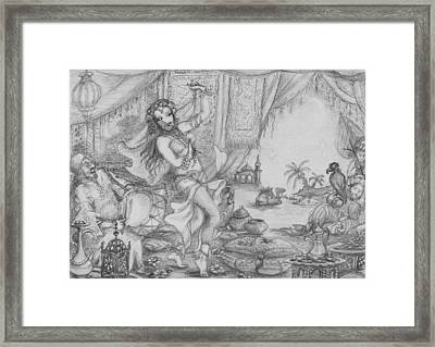 Arabian Nights Study Framed Print by Yvonne Ayoub