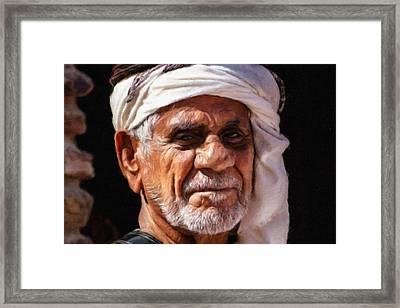 Arabian Old Man Framed Print by Vincent Monozlay
