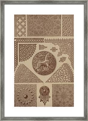 Arabian Textile Patterns Framed Print