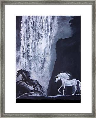 Arabians At Night Framed Print by Aleta Parks
