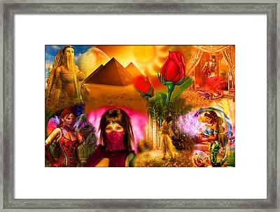 Arabic Ladies Veiled Collage Framed Print by Austin Torney