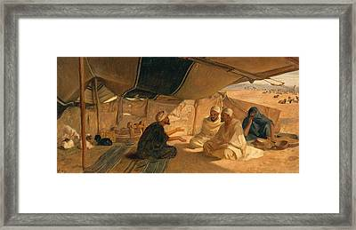 Arabs In The Desert Framed Print