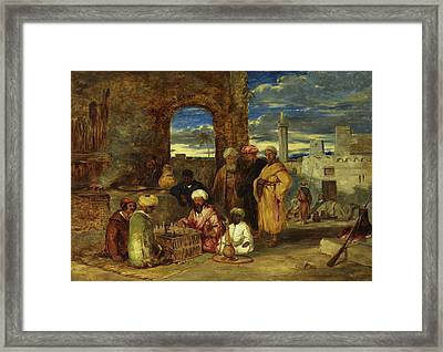 Arabs Playing Chess, 1843 Framed Print