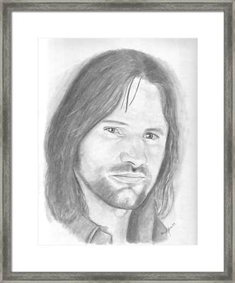Aragorn Framed Print by Amy Jones