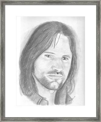 Aragorn Framed Print by Amy Jones