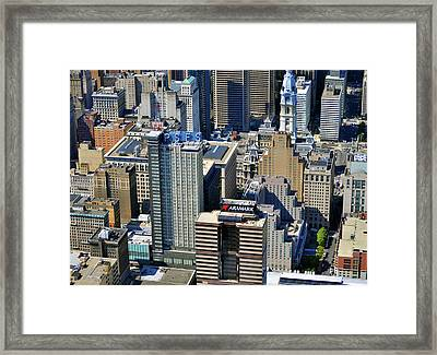 Framed Print featuring the photograph Aramark Psfs Buildings 1101 Market St Philadelphia Pa 19107 2926 by Duncan Pearson