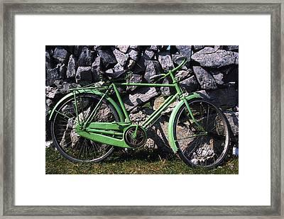 Aran Islands, Co Galway, Ireland Bicycle Framed Print