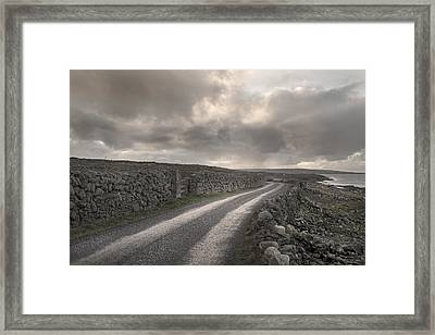 Aran Islands Seaside Drive Framed Print by Betsy Knapp