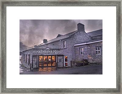 Aran Sweater Market Framed Print by Betsy Knapp