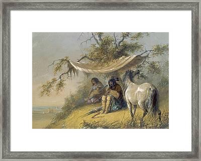 Arapahos Framed Print by Alfred Jacob Miller