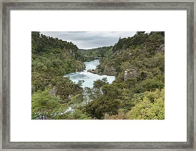 Framed Print featuring the photograph Aratiatia Rapids by Gary Eason